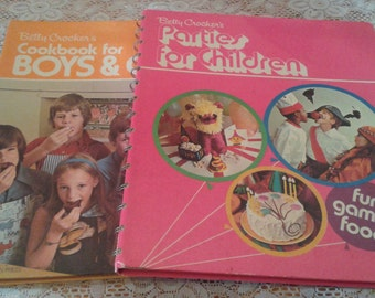 Vintage Betty Crocker Cookbook and Party Book