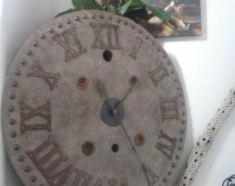 Farmhouse Clock Shiplap Clock Spool Clock Rustic Wall