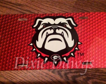 University of GEORGIA BULLDOGS, UGA License Plate Tag, Your Choice of One
