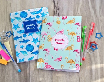 Monthly planner 2017 2018 Daily planner Diary calendar Undated planner calendar 2017 2018 agenda To do list planner Diary Personal tracker