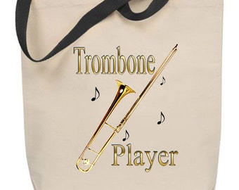 Trombone Player Tote Bag