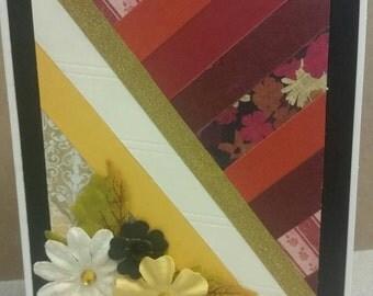 Rustic stripe Card