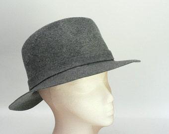 Gray Wool Felt Fedora by Dobbs New York