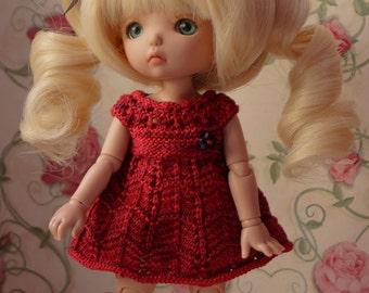 Handmade knitting dress for pukifee