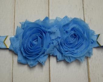 Baby Headband, Blue Flower,Toddler, Infant, Newborn Headband, Childrens Accessory, Baby Girl, Headband, Hairband