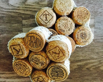 Champagne cork coster- set of 2