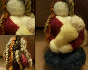 OOAK Needle felted Breastfeeding Mama Sculpture