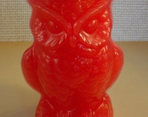 OWL FIGURE CANDLE, Beeswax Blend, Familiar, goddess, god, candle magick, candle magick, magic, spell work