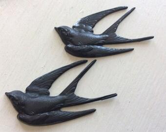 Blackened brass sparrow florish 1pc