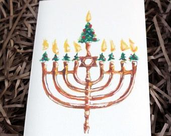 Interfaith Holiday Cards: Christmas Tree Menorah