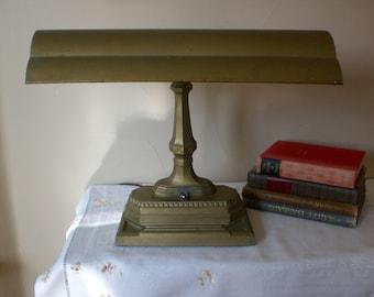 bankers lamp etsy. Black Bedroom Furniture Sets. Home Design Ideas