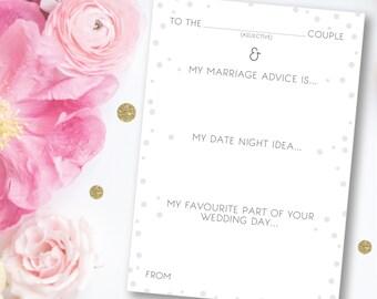 Wedding Advice Cards - Portrait Design