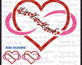 Infinite Heart SVG Infinity SVG Heart Svg Love SVG cut file for Cricut Silhouette Scan N Cut Commercial Use