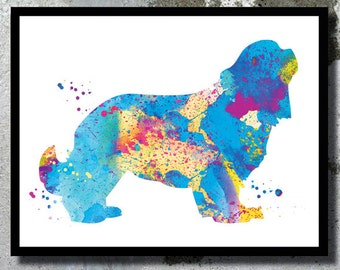 Cavalier king Watercolor Print Dog Watercolor Dog painting Dog Art Cavalier king poster Dog Nursery Dog illustration Dog room decor Dog gift