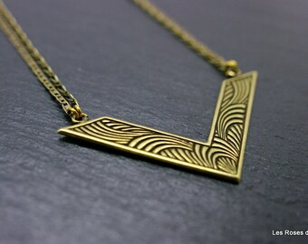 Necklace art deco Inca