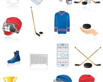 Ice hockey clip art ,17 high resolution png Ice hockey clip art , Instant Download, hockey clip art ,sport clip art