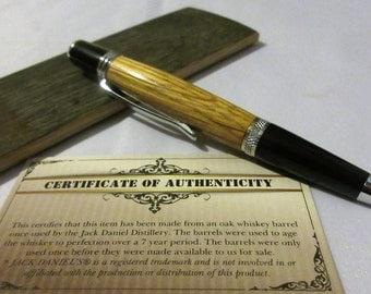 Whiskey barrel pen