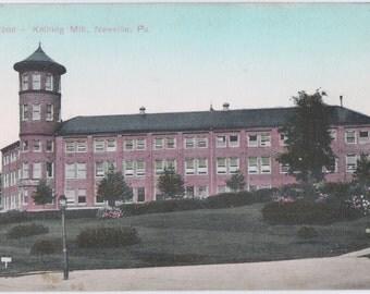 Vintage Postcard Knitting Mill Newville Pennsylvania