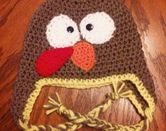 Crocheted turkey hat preemie to adult sizes available