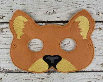Cougar Children's Mask  - Costume - Theater - Dress Up - Halloween - Face Mask - Pretend Play - Party Favor