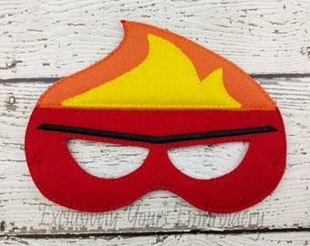 Anger Emotion Children's Mask  - Costume - Theater - Dress Up - Halloween - Face Mask - Pretend Play - Party Favor
