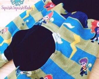 Monsterbunz, made to order, custom fabric selection, cloth diaper pants, bum circle pants
