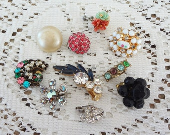 Mix and match vintage earrings