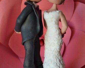 Bride and groom figures custom