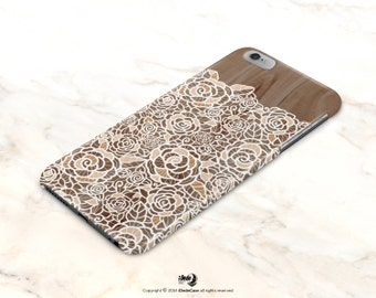 iPhone 6 Case Floral iPhone 6s Case wood iPhone 5s Case Lace iPhone 6 Plus Case iPhone 5C Cover iPhone Se Case for her iPhone 6s Plus Case