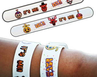 6 Count Five Nights at Freddy's FNaF Party Birthday Toy Bracelets - Great for invite invitations or as party favors inside goody bags