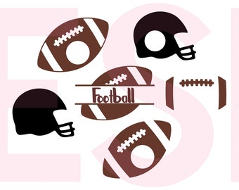 Football Monogram svg, svg monogram frame, SVG, DXF, EPS, svg cutting files for use with Silhouette Studio and Cricut Explore machines.