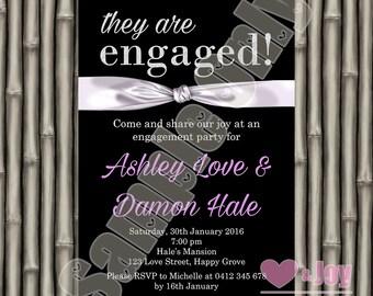 Engagement invites Etsy