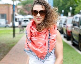 Ikat square scarf