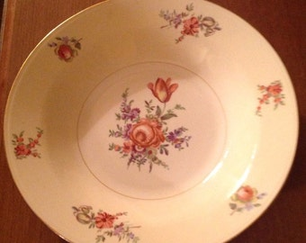 Vintage Homer Laughlin, Priscilla, Egg shell. Nautilus, rimmed soup bowls.  Shabby Chic, Cottage look