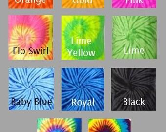 Monogrammed Tie Dye Tank