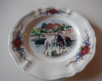 FRANCE SARREGUEMINES OBERNAI Salad Plate Signed H. Loux