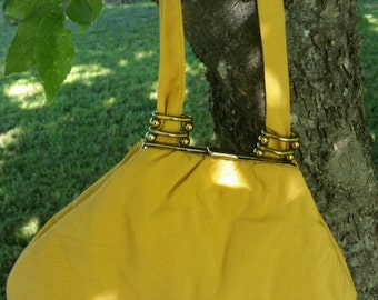 Vintage mustard yellow evening bag.