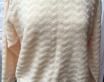 Beautiful hand knitted vintage jumper size 12 to 14