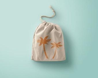 Palm trees cotton bag
