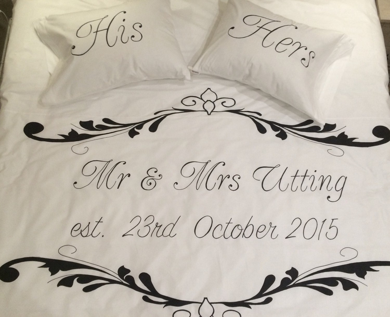 Wedding Duvet Cover Set Couple Bedding Mr And By