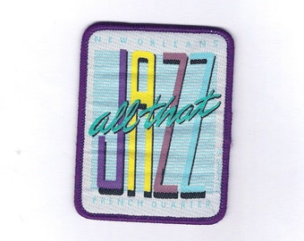 Vintage New Orleans All that Jazz French Quarter Patch