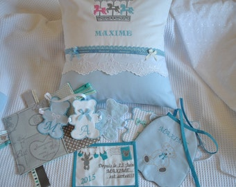 All embroidered and custom birth Kit