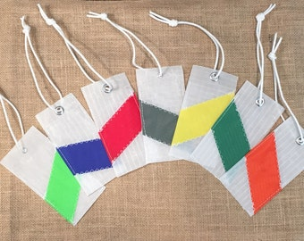 Sailcloth Luggage Tags