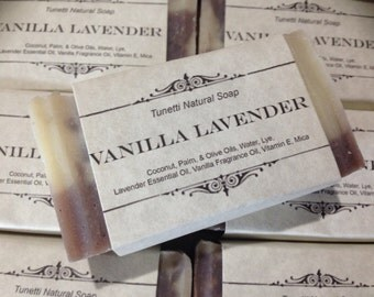 Vanilla Lavender Natural Homemade Soap, Handmade soap, Natural Soap, Cold Process Soap