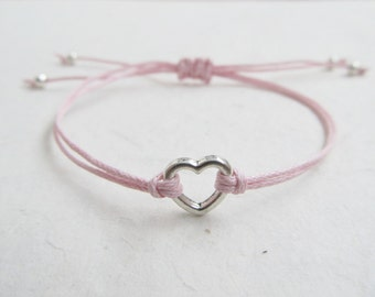 Love bracelet, heart bracelet, friendship bracelet