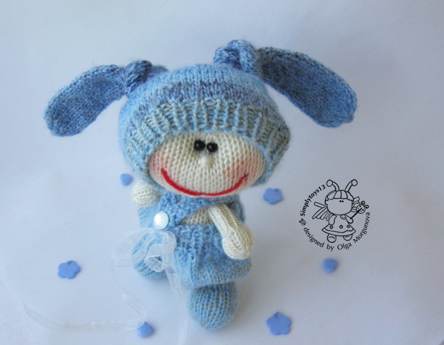 Blue bunny amigurumi bunny bunny toy pattern knitted bunny bunny pattern sold by simplytoys13 this is a digital file bankloansurffo Choice Image