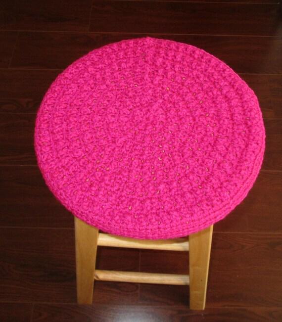 Crochet Bobble Stool Cover Dark Rose Bar Stool Cover Dark