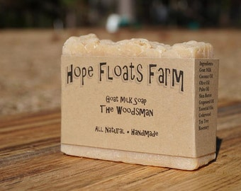 The Woodsman (Cedar Soap)  GOAT MILK soap - All Natural, Handmade
