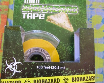 decortive tape  biohazard design