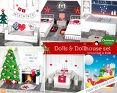 Christmas Crafts / Paper dolls + dollhouse / Paper Craft / Learning Toy - FREE shipping + clearance price!!